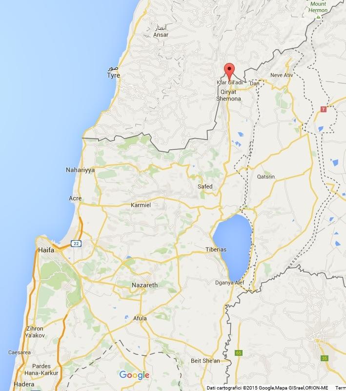 Kfar Giladi map