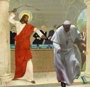 Jesus-fouettant-le-pape