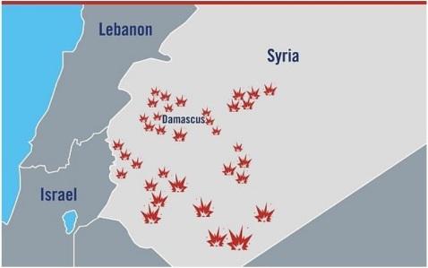 postazioni iraniane Siria