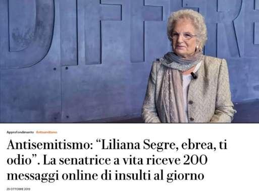 liliana-segre-antisemitismo 1